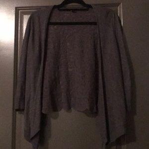 Women's grey cardigan